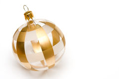 Gold Christmas decoration. On an isolated white background Stock Image