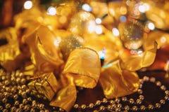 Gold Christmas Decoration Stock Photos