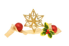 Gold Christmas decoration Stock Images