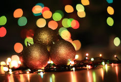 Gold  Christmas decoration Royalty Free Stock Photos