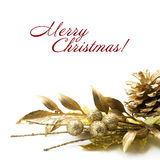 Gold Christmas Decorations Royalty Free Stock Image