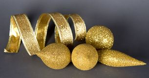 Gold Christmas decorations Royalty Free Stock Photo