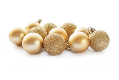 Gold Christmas decorations Stock Image
