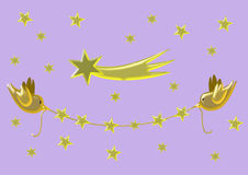 Gold Christmas garland Royalty Free Stock Image