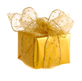 Gold christmas gifts Royalty Free Stock Image
