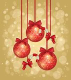 Gold Christmas Greeting Card Royalty Free Stock Images