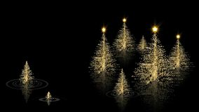 Gold Christmas 2 Happy Holidays stock video footage