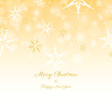 Gold Christmas Illustration. Christmas abstract background  illustration Royalty Free Stock Image