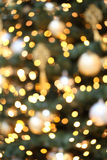 Gold christmas lights Royalty Free Stock Photos