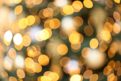 Gold christmas lights Royalty Free Stock Images