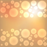 Gold christmas lights background Stock Photos