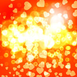 Gold christmas lights background Royalty Free Stock Image