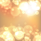 Gold christmas lights background Royalty Free Stock Images