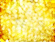 Gold christmas lights background. Vector Royalty Free Stock Image