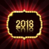 Gold Christmas and New Year banner Royalty Free Stock Images