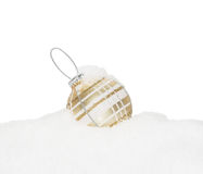 Gold Christmas New Year bauble Royalty Free Stock Photos