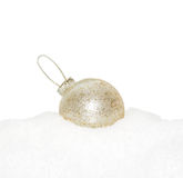 Gold Christmas New Year bauble Royalty Free Stock Photo