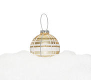 Gold Christmas New Year bauble Royalty Free Stock Image