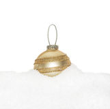 Gold Christmas New Year sphere Royalty Free Stock Photos