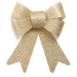Gold Christmas ornament bow tie Stock Photo