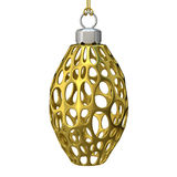 Gold Christmas ornament. 3D render Stock Photo