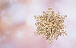 Gold Christmas Ornament Royalty Free Stock Photo