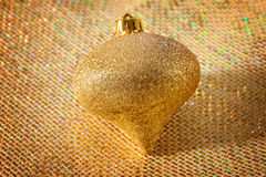 Gold Christmas Ornament Stock Image