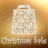 Gold Christmas sale Background. EPS 8 Stock Photography