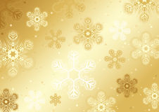 Gold Christmas Snowflakes Stock Images