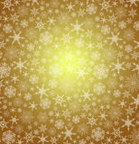 Gold Christmas Snowflakes Background Royalty Free Stock Images