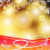Gold Christmas with snowflakes vector illustration background Stock Photography