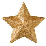 Gold christmas star Stock Image