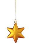 Gold Christmas star. Isolated over a white background Royalty Free Stock Image
