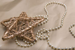 Gold Christmas star Stock Images