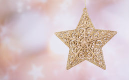 Gold Christmas Star Stock Photography
