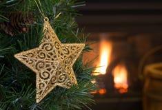 Gold Christmas Star Royalty Free Stock Photos