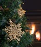 Gold Christmas Star Stock Image