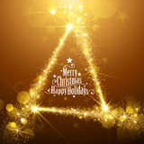 Gold Christmas Stars Royalty Free Stock Images