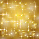 Gold christmas stars background Stock Photography