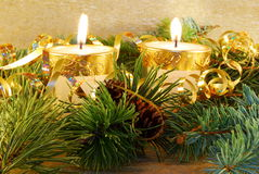 Gold christmas still-life Stock Photo