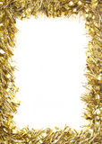 Gold Christmas tinsel garland Royalty Free Stock Photo