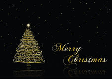 Gold Christmas tree Royalty Free Stock Photo