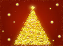 Gold Christmas Tree Royalty Free Stock Photos