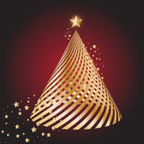 Gold christmas tree Stock Photography