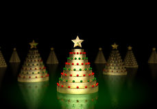Gold Christmas Tree Stock Photos