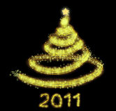 Gold christmas tree background Royalty Free Stock Photography