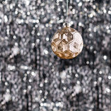 Gold Christmas tree bauble Royalty Free Stock Images