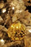 Gold christmas tree. Closeup photo Stock Images