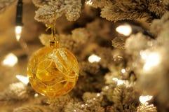 Gold christmas tree Stock Photos