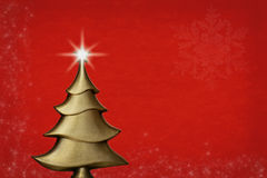 Gold christmas tree Royalty Free Stock Photography